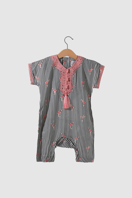 Jalabiya Onesie - Flamingo Collection - Black