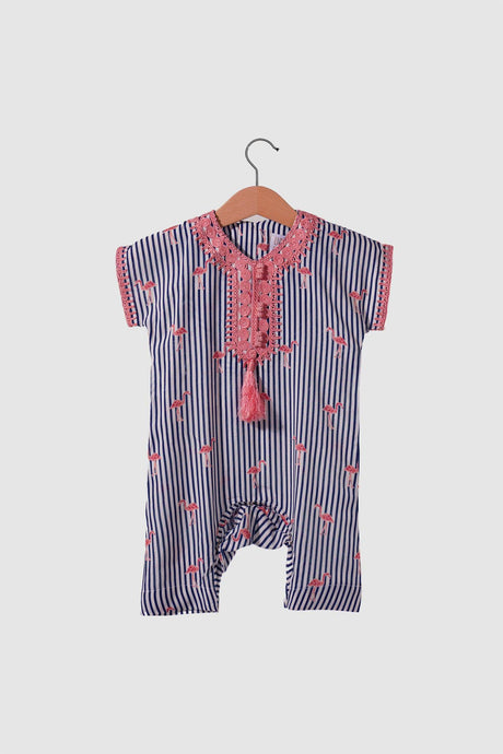 Jalabiya Onesie - Flamingo Collection - Navy Blue