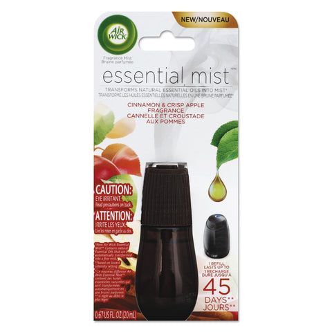 Air Wick Essential Mist Refill, Cinnamon and Crisp Apple, 0.67 oz, 6/Carton