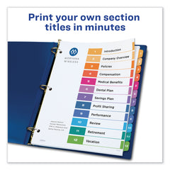 Avery Customizable TOC Ready Index Multicolor Dividers, 12-Tab, Letter, 6 Sets