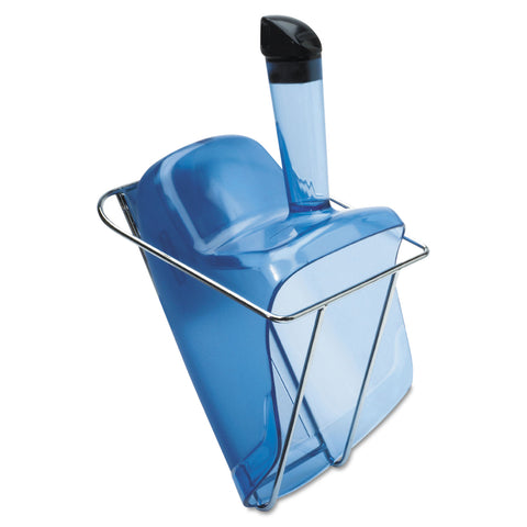 Rubbermaid Commercial Hand-Guard Scoop with Holder, 74oz, Transparent Blue
