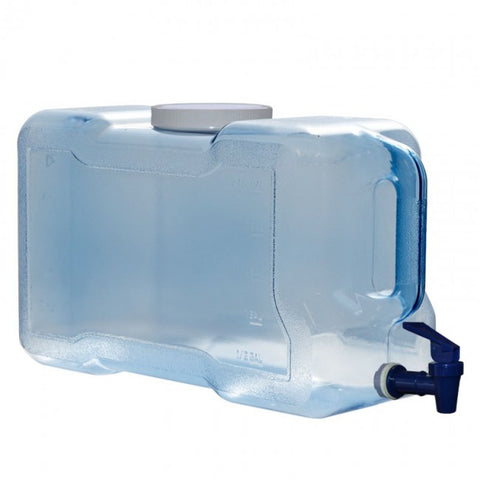 3 Gallon Polycarbonate Refrigerator Bottle with Dispenser - Blue