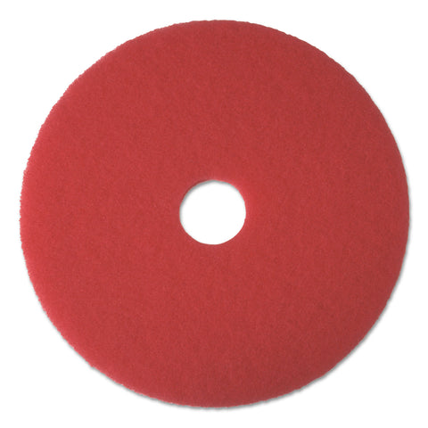"Boardwalk Buffing Floor Pads, 18"" Diameter, Red, 5/Carton - Red"