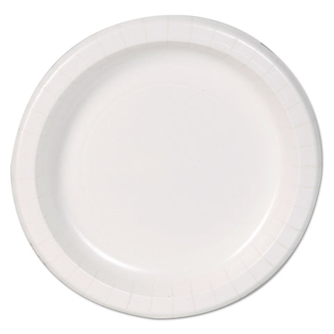 "Dixie Basic Basic Paper Dinnerware, Plates, White, 8.5"" Diameter, 125/Pack"