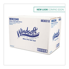 Windsoft Bath Tissue, Septic Safe, 2-Ply, White, 4 x 3.75, 500 Sheets/Roll, 96 Rolls/Carton
