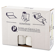 "Inteplast Group High-Density Interleaved Commercial Can Liners, 60 gal, 17 microns, 43"" x 48"", Clear, 200/Carton - Clear"