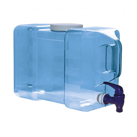3 Gallon Polycarbonate Refrigerator Water Jug Bottle w/ Dispenser - Blue - Blue / 3 Gal. / Polycarbonate Plastic