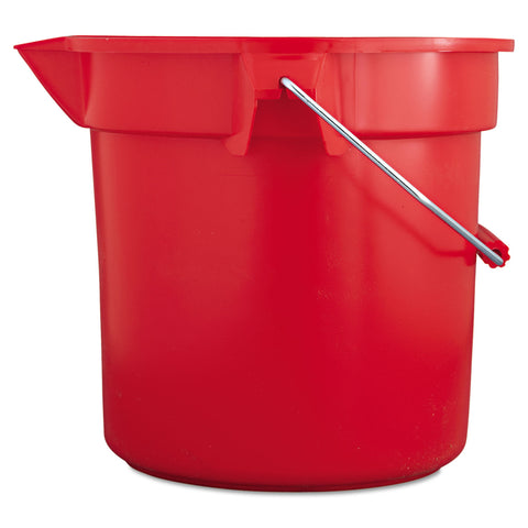 Rubbermaid Commercial BRUTE Round Utility Pail, 14qt, Red