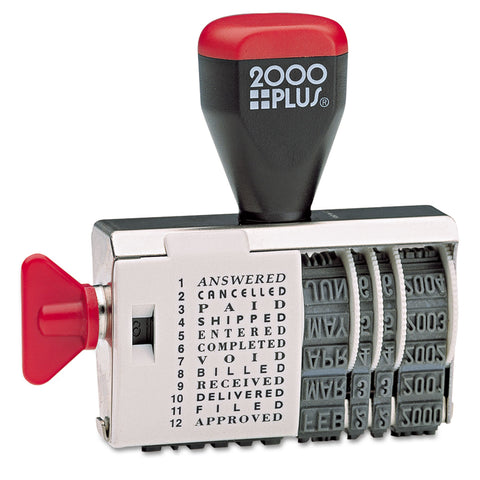 COSCO 2000PLUS Dial-N-Stamp, 12 Phrases, 1 1/2 x 1/8