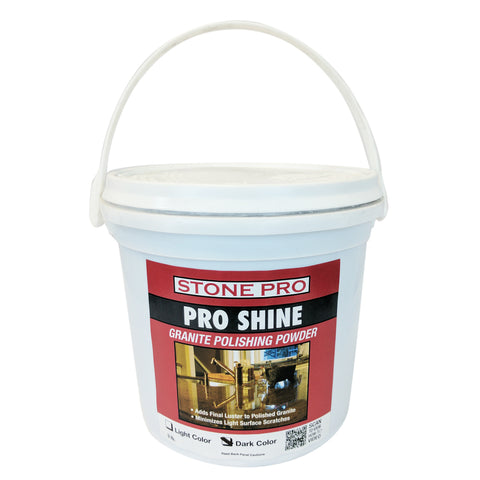 Stone Pro Pro Shine - Granite Polishing Powder - 3 Pound - Dark