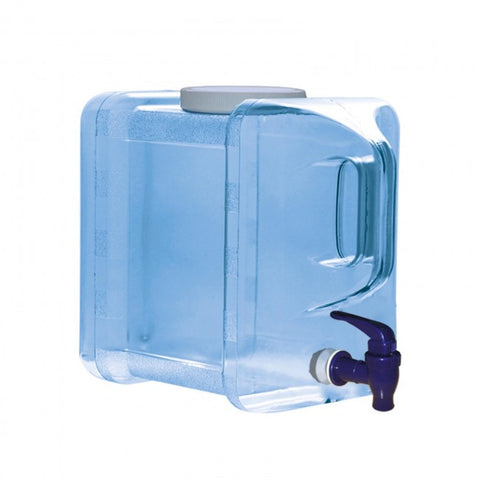 2 Gallon Polycarbonate Refrigerator Water Bottle with Dispenser - Blue