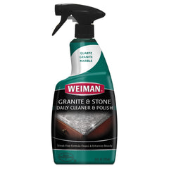 WEIMAN Granite Cleaner and Polish, Citrus Scent, 24 oz Bottle, 6/Carton