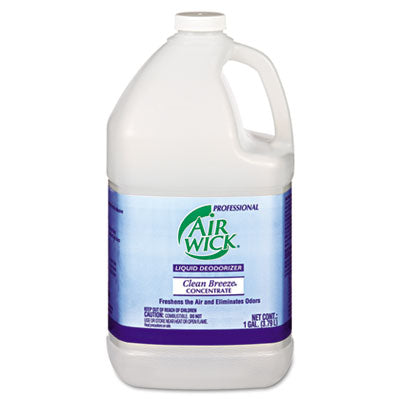 Professional Air Wick Liquid Deodorizer, Clean Breeze, 1 gal, Concentrate, 4/Carton