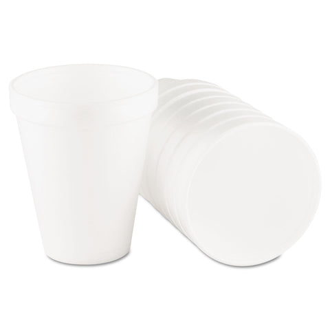 Dart Foam Drink Cups, 10oz, White, 25/Bag, 40 Bags/Carton - White