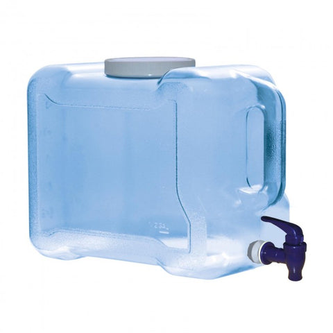 2 Gallon Polycarbonate Refrigerator Water Bottle w/ Dispenser - Blue