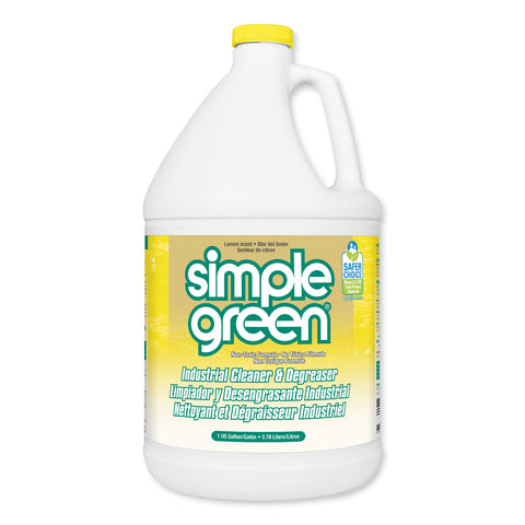 Simple Green Industrial Cleaner and Degreaser, Concentrated, Lemon, 1 gal Bottle, 6/Carton