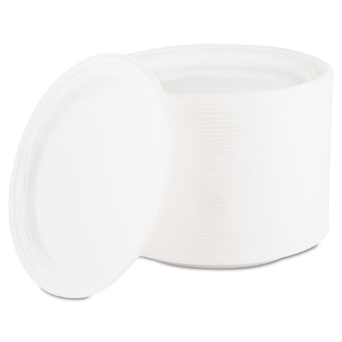 "Dart Famous Service Plastic Dinnerware, Plate, 6"" dia, White, 125/Pack"