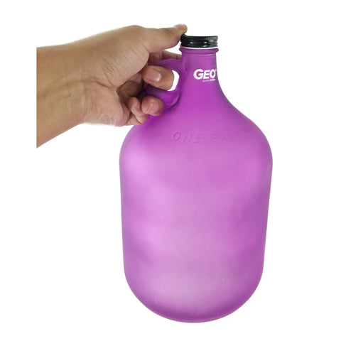 Glass Bottle with Ring Holder - Frost Purple