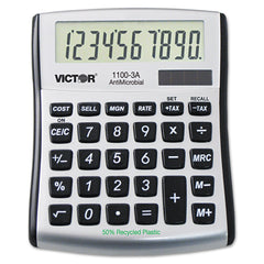 Victor 1100-3A Antimicrobial Compact Desktop Calculator, 10-Digit LCD