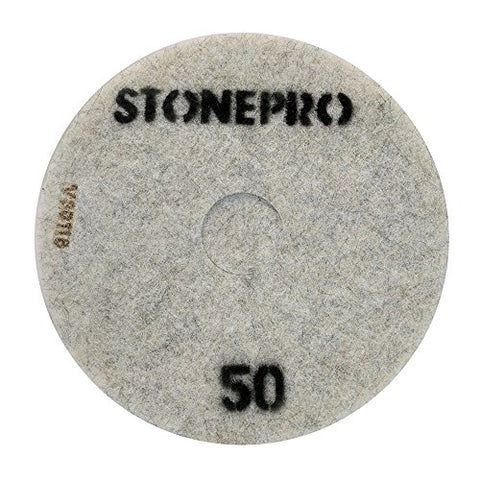 "Stone Pro 17"" Flexible Resin DOT Pads 50 Grit - For Superior Polish On Stone, Concrete and Terrazzo"