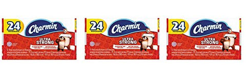 "Charmin 99016 Ultra Strong Bathroom Tissue, 2-Ply, 4"" x 3.92"", 71 Sheets per Roll (Pack of 24) (3-(Pack))"