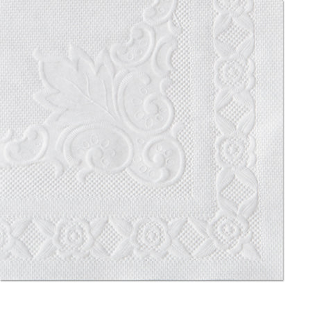 Hoffmaster Classic Embossed Straight Edge Placemats, 10 x 14, White, 1,000/Carton - White