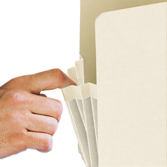 "Smead Manila End Tab File Pockets, 1.75"" Expansion, Letter Size, Manila, 25/Box - Manila / Letter"