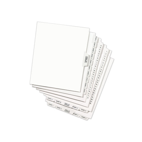 Avery Avery-Style Preprinted Legal Bottom Tab Dividers, Exhibit P, Letter, 25/Pack