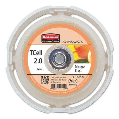 Rubbermaid Commercial TC TCell 2.0 Air Freshener Refill, Mango Blast, 24 mL Cartridge, 6/Carton