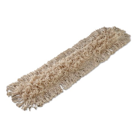 Boardwalk Industrial Dust Mop Head, Hygrade Cotton, 36w x 5d, White - White / 36w x 5d