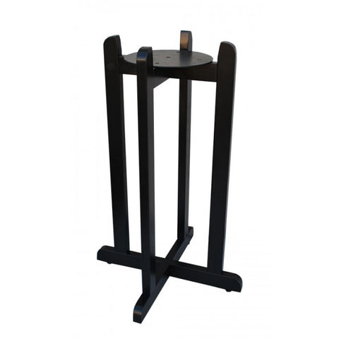 "For Your Water 30"" Natural Wood Painted Water Crock Dispenser Floor Stand - Black - Black / 30 Inches / Wood"