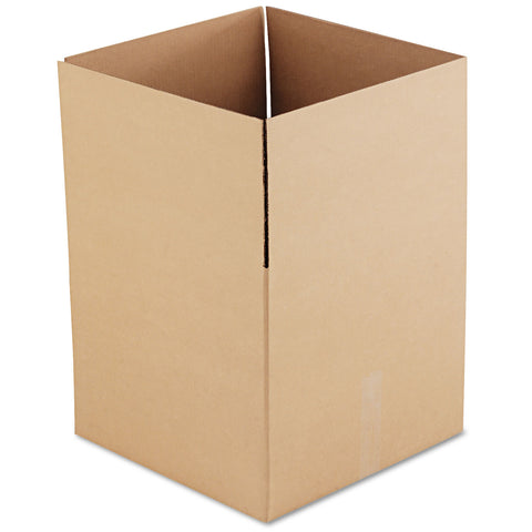 "General Supply Fixed-Depth Shipping Boxes, Regular Slotted Container (RSC), 18"" x 18"" x 16"", Brown Kraft, 15/Bundle"