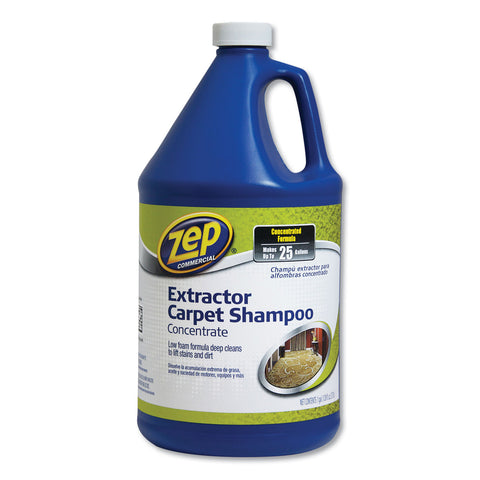 Zep Commercial Carpet Extractor Shampoo, Unscented, 1 gal, 4/Carton