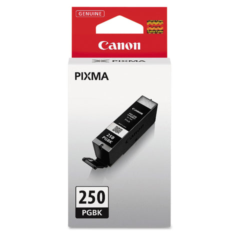 Canon 6497B001 (PGI-250) ChromaLife100+ Ink, 300 Page-Yield, Black