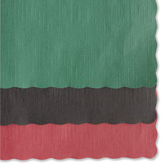 Hoffmaster Solid Color Scalloped Edge Placemats, 9.5 x 13.5, Hunter Green, 1,000/Carton - Hunter Green