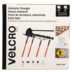"VELCRO Brand Industrial-Strength Heavy-Duty Fasteners, 2"" x 49 ft, White"