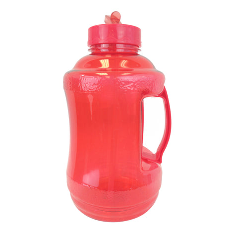 1.68 Liter BPA Free Water Bottle with Drinking Straw - Red - Red / 1.68 Liter / BPA Free Plastic