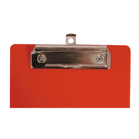 "Saunders Plastic Clipboard, 1/2"" Capacity, 6 x 9 Sheets, Red"