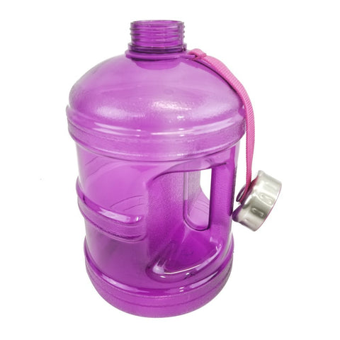 Water Bottle with Stainless Steel Cap - Purple