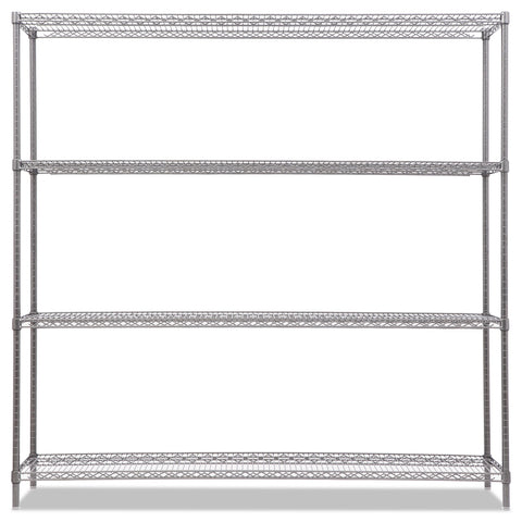"Alera BA Plus Wire Shelving Kit, 4 Shelves, 72"" x 18"" x 72"", Black Anthracite Plus"