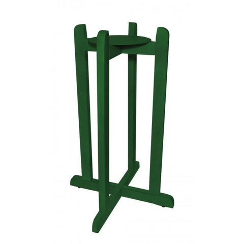 "For Your Water 30"" Natural Wood Painted Water Crock Dispenser Floor Stand - Dark Green - Green / 30 Inches / Wood"
