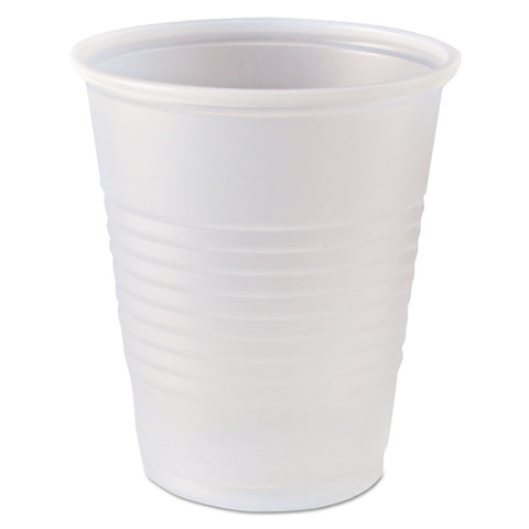 Fabri-Kal RK Ribbed Cold Drink Cups, 5 oz, Clear, 2500/Carton - Clear