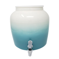 Plastic Spigot Faucet and Lid - Gradient Baby Blue
