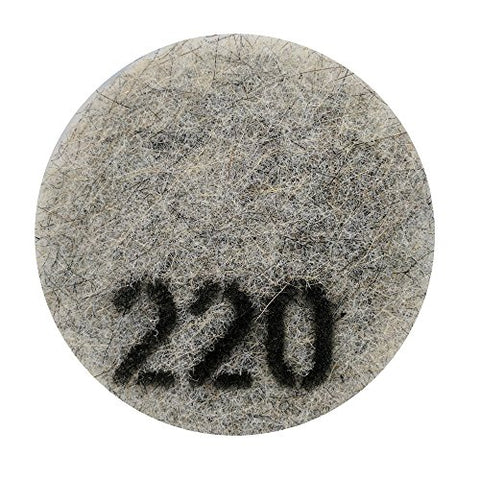 "Stone Pro 7"" Flexible Resin DOT Pads 220 Grit - For Superior Polish On Stone, Concrete and Terrazzo"