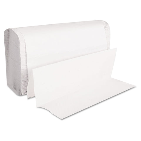 GEN Folded Paper Towels, Multifold, 9 x 9 9/20, White, 250 Towels/Pack, 16 Packs/CT - White