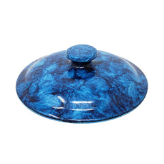 Spigot Faucet and Lid - Dark Blue Marble