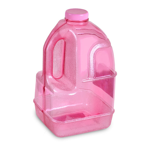 1 Gallon BPA Free Dairy Juice Water Bottle - Pink - Pink / 1 Gallon / BPA Free Plastic