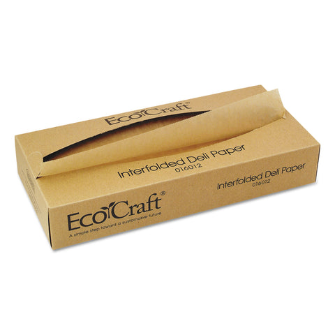 Bagcraft EcoCraft Interfolded Soy Wax Deli Sheets, 12 x 10 3/4, 500/Box, 12 Boxes/Carton