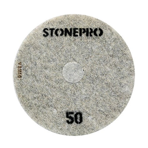 "Stone Pro 20"" Flexible Resin DOT Pads 50 Grit - For Superior Polish On Stone, Concrete and Terrazzo"