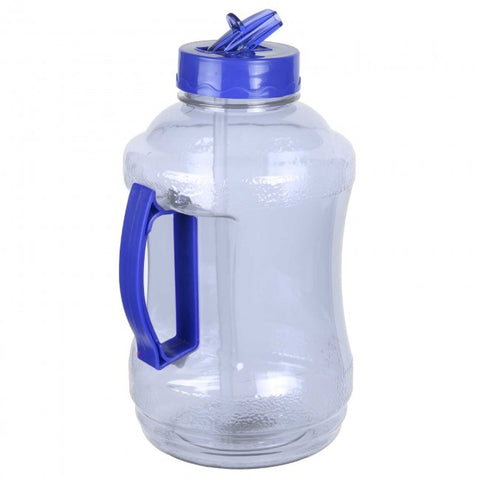 1.68 Liter BPA Free Water Bottle with Drinking Straw - Light Blue - Light Blue / 1.68 Liter / BPA Free Plastic